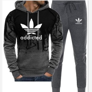 Men's And Women's Hooded Suit Fashion New Sportswear Wholesale Hot Sale Letter Printing Casual Two-Piece Suit Direct Mail