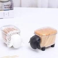 cute mini premium plastic cotton bud dirt shaped sheep storage box small clip clip desktop storage box for home organizer