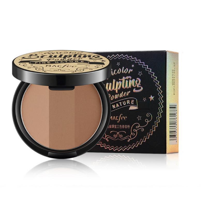 3Colors Bronzers Face Makeup Matte Highlighter Concealer Bronze Shadow Powder Waterproof Face Contou