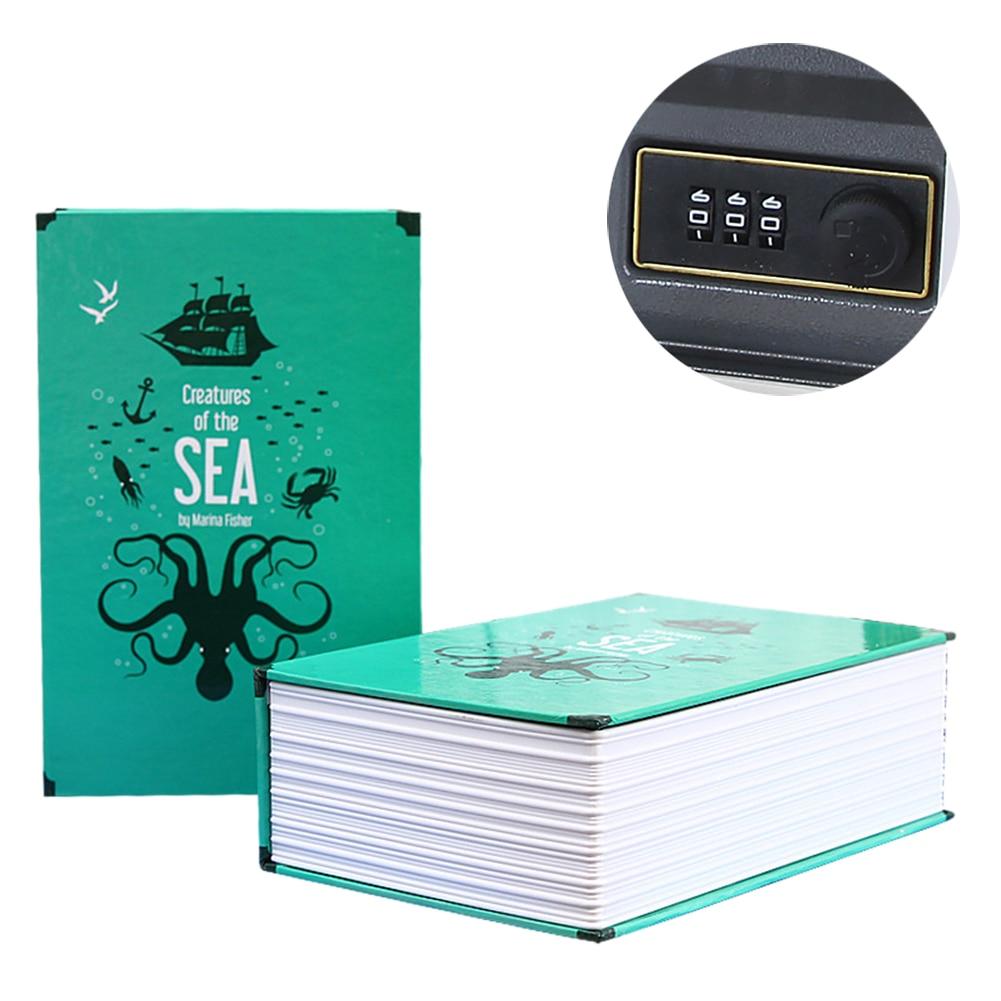 Password Box Safe Simulation Book Mini Home Password Code Book Safe Saving Pot Storage Box Book Password Box Craft