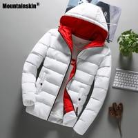 Мужская теплая куртка Mountainskin, черная Повседневная Свободная ветрозащитная куртка с капюшоном, осень 2019