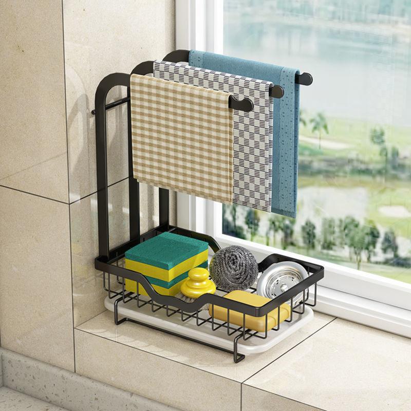 ملحقات المطبخ طبق تجفيف تجفيف الرف المنظم كونترتوب أواني طبق منظم التخزين للمطبخ مع لوحة تجفيف