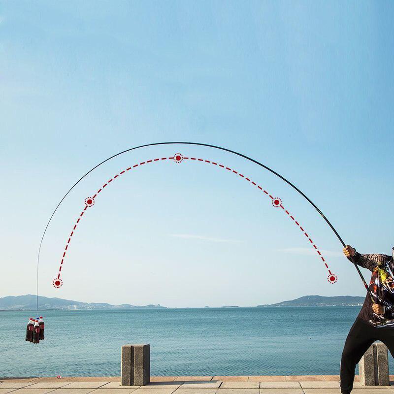 Nueva caña de pescar de carbono... 19-28-canción difícil melodía carpa caña de pescar
