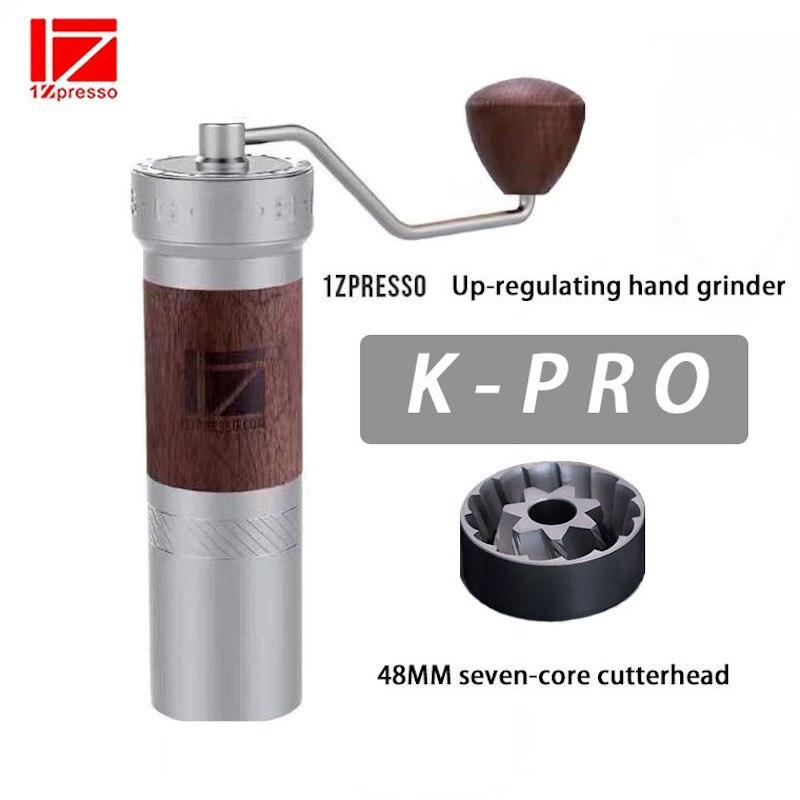 1Zpresso kpro-مطحنة قهوة يدوية من الألومنيوم ، مطحنة لدغ من الفولاذ المقاوم للصدأ قابلة للتعديل ، مطحنة حبوب صغيرة 35 جرام