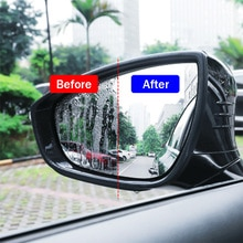 2Pcs/Set Car Stickers Rearview Mirror Glass Film Stickers Imported PET Sticker Waterperoof Anti-fog