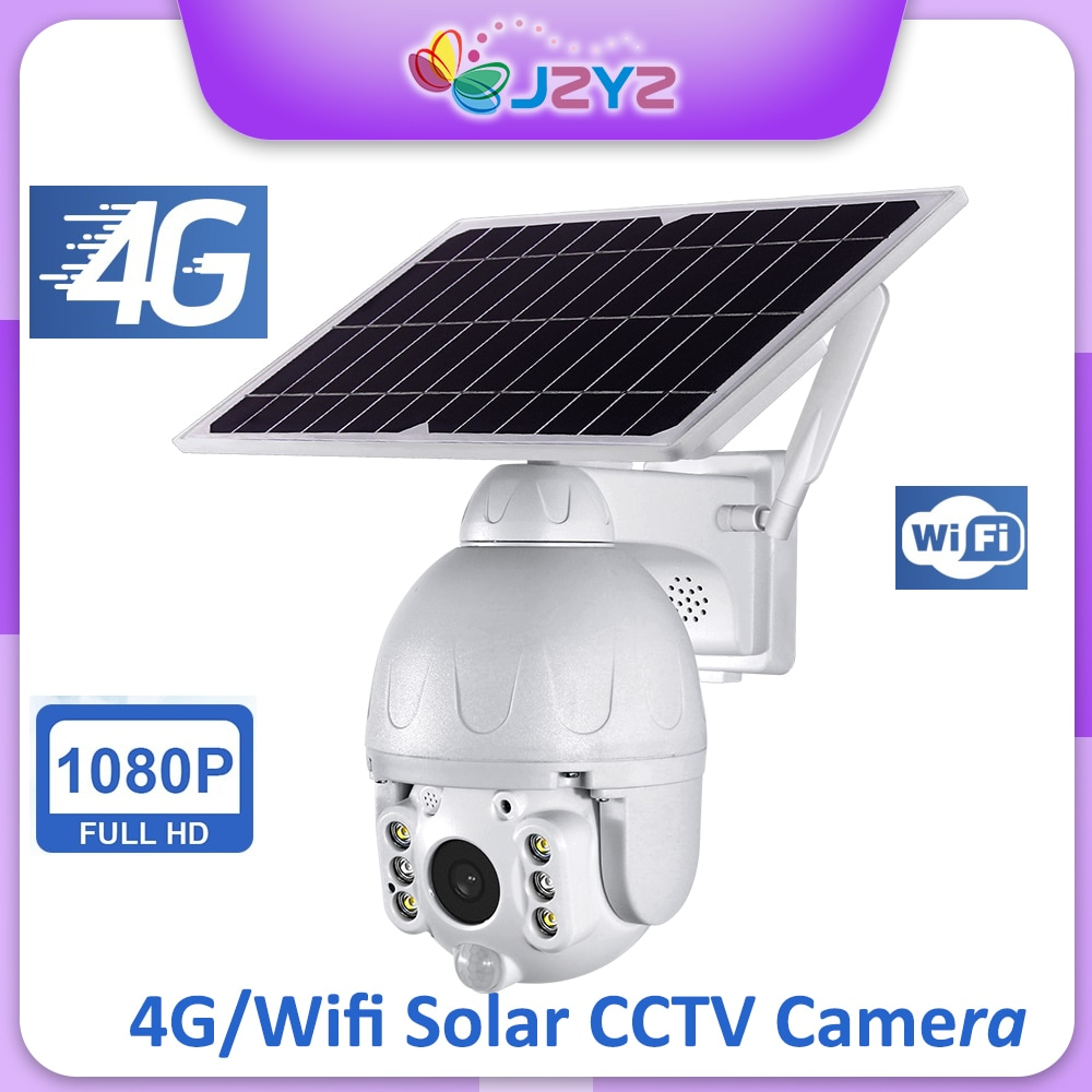 Rechargeable Battery Wifi 4G Solar Camera Outdoor PTZ CCTV Security Monitor Video Surveillance Night Vision Motion Detect JZYZ