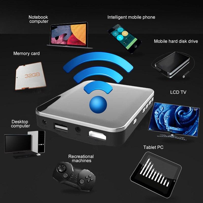 Мини портативный видеопроектор для домашнего личного кинотеатра ручной HD беспроводной телефонный скрининг NC99