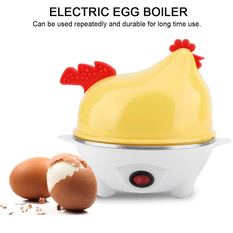 Electric Egg Boiler Chicken Shape Eggs Omelette Cooker Multifunctional Corn Steamed Heating Milk 7 Eggs Steamer