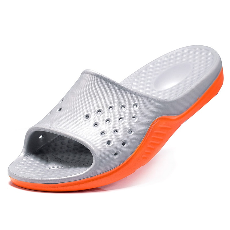 Men Shoes Eva Rubber Soft Ultralight Slippers Summer Home Slides Slipper Indoor House Outdoor  Non-Slip Beach Shoes Plus Size 50