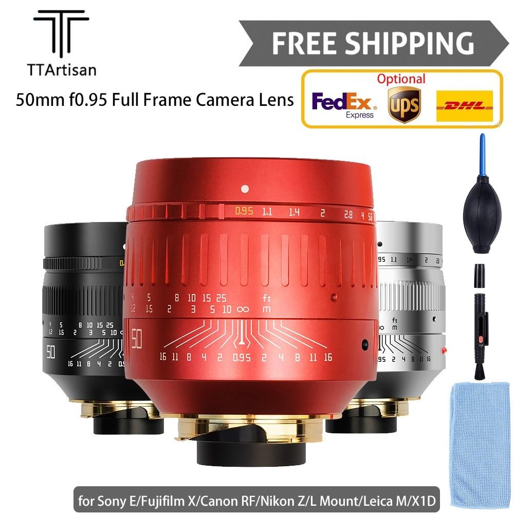 TTartisan 50 مللي متر f0.95 عدسة الكاميرا الإطار الكامل التصوير المهنية ل L جبل/لايكا م/سوني E/كانون RF/نيكون Z/Fujifilm X/X1D