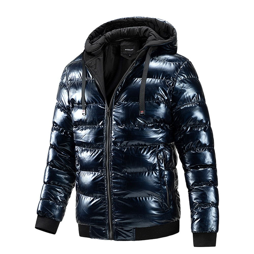 Зимняя Теплая мужская куртка, Повседневная однотонная зимняя куртка на молнии, толстая верхняя одежда, парка, Мужская зимняя пуховая куртка...