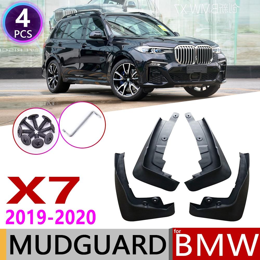 4 шт. передние и задние брызговики автомобильные для BMW X7 G07 2019 ~ 2020 крыло брызговик щиток Брызговики аксессуары для брызговиков