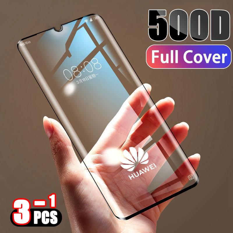 500D Gehärtetem Volle Abdeckung Schutz Glas auf Für Huawei P30 P20 Lite Pro Screen Protector Film Für Taube 20 10 9 Lite Pro Glas