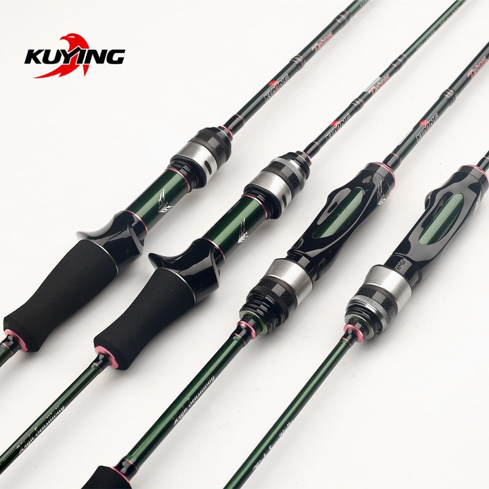 قصبة صيد من KUYING Teton 1.75 متر 5'10 بوصة 1.8 متر 6'0 بوصة من الكربون لصب الغزل تيار سريع السرعة طعوم لينة لصيد الأسماك