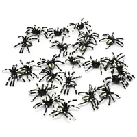 12pcs fake spider scary spooky party supplies decoration haunted house prop random color