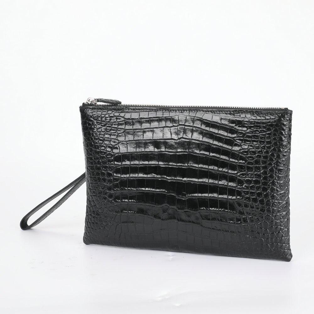 Siamese Crocodile Envelope Phone Bag Mens Wallet Small Leather Genuine Purse Handbag Man's High Grade Business Hologram Wristlet