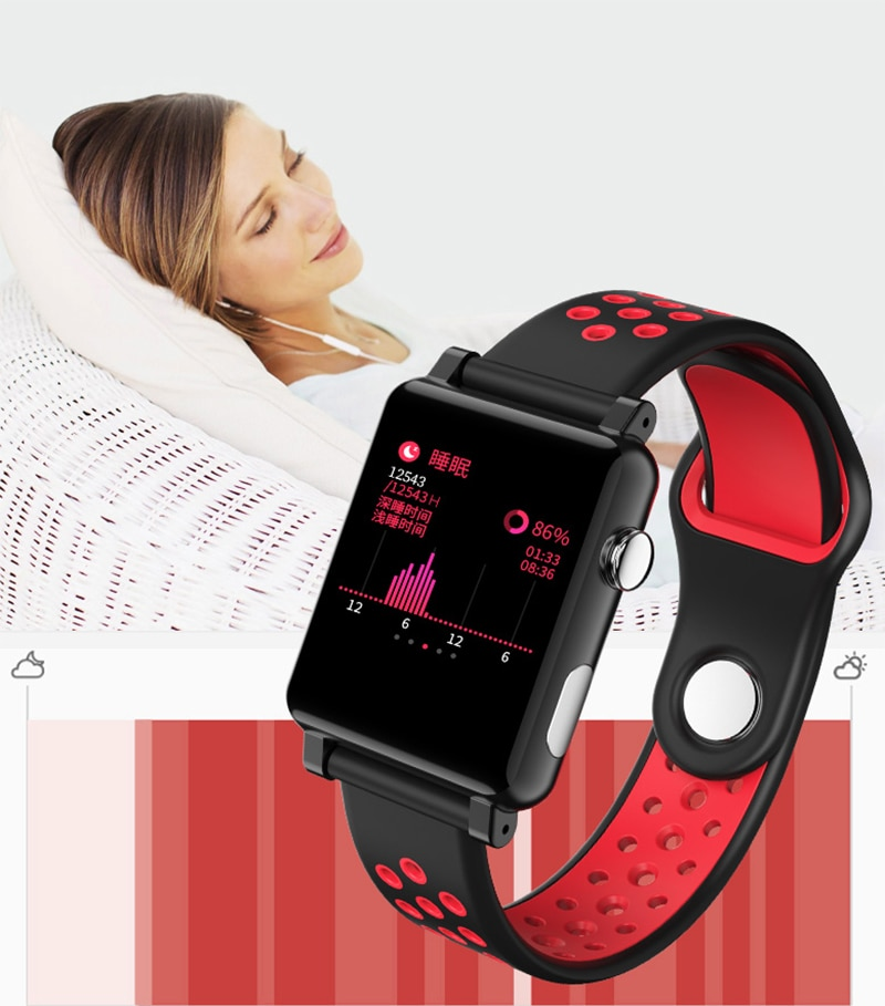 RGTOPONE Smart Watch Heart Rate Detection ECG Blood Pressure Waterproof Fitness Tracker Outdoor Sport Watches Smart Bracelet