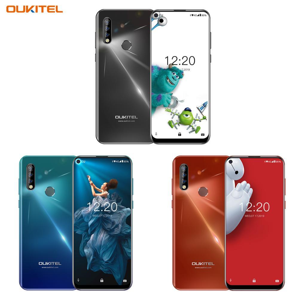 OUKITEL C17 Pro double 4G Android 9.0 Smartphone empreinte digitale visage ID téléphone portable 6.35 '4 GB 64GB 19:9 téléphone portable Octa Core 3900mAh