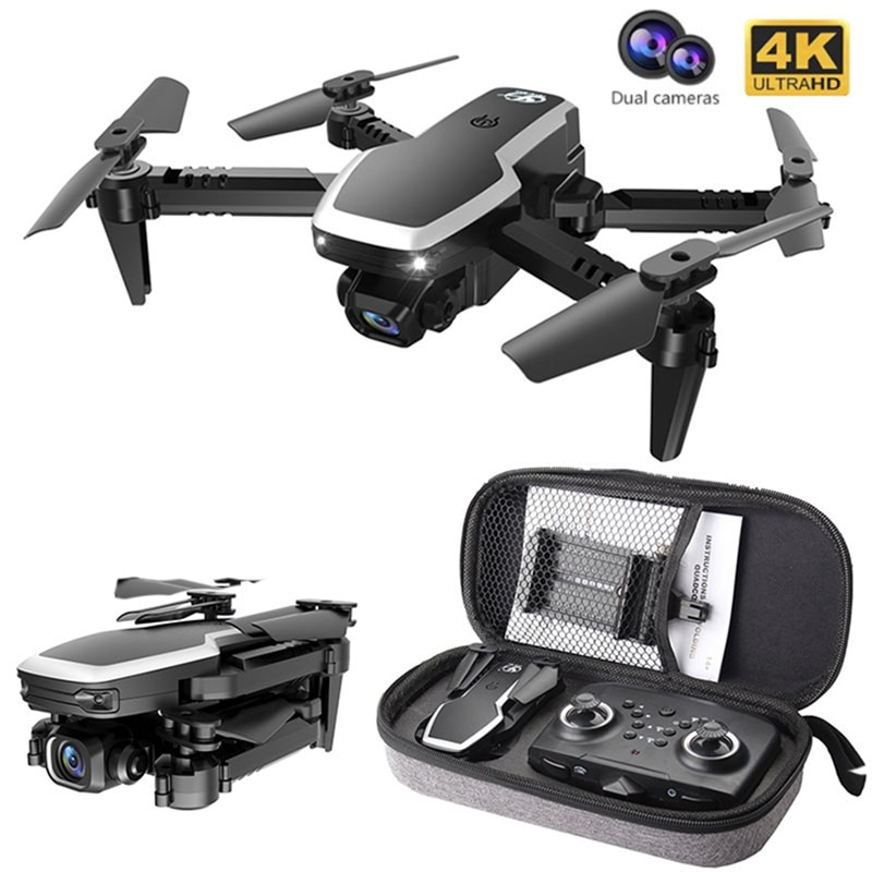 2.4G Mini Drone With Camera 4k HD Dual Camera Pro Fpv Altitude Hold Wifi Foldable Quadcopter Flight RC Helicopter Toy Xmas Gift