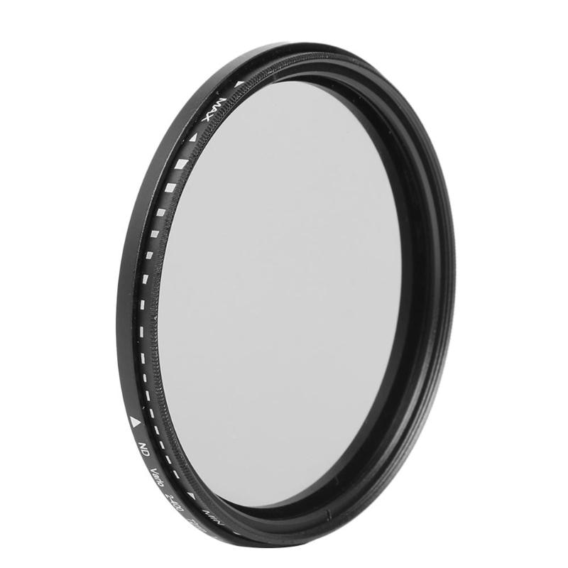 58mm/62mm/67mm/72mm/77mm/82mm Slim Fader Variable ND Filter ND2 to ND400 Neutral Density Lens Filter