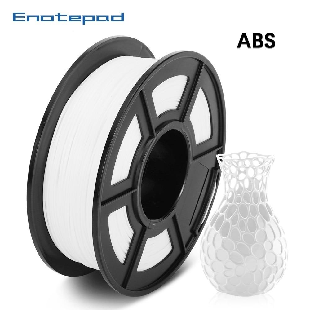 Enotepad ABS 3D Filament 1,75mm ABS Filament 1kg Spool Kunststoff Schweißen Stange mit Empfindlicher Verpackung 100% keine blase abs пластик