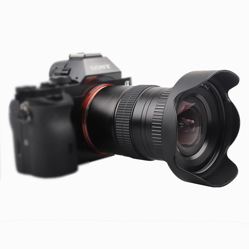 Lente principal de enfoque Manual Lightdow de 14mm F4 con ángulo Ultra ancho para Sony E Mount, cámaras Sony A7 A7R A7RII A7S A7SII 6000L NEX-6 NEX7