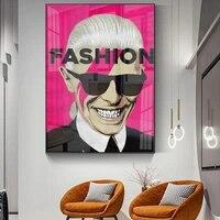 Peinture a lhuile abstraite  affiche de Rock Star a la mode  salon  couloir  decoration de la maison  peintures murales