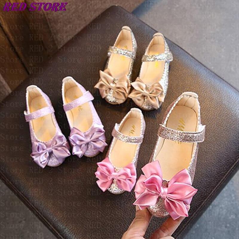 الربيع الفتيات أحذية الرقص أحذية الحفلات للأطفال طفل الأميرة أحذية الذهب فتاة كبيرة حذاء واحد 1-12 سنة الطفل الوردي MCH103
