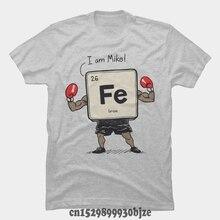 Nueva camiseta de verano con estampado informal de Iron the Boxer para hombre, camiseta divertida de dibujos animados