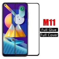 3pcs 9d protective glass for samsung m11 m115f galaxy m11 m115f safety screen protector on galaxy m 11 full cover tempered glass