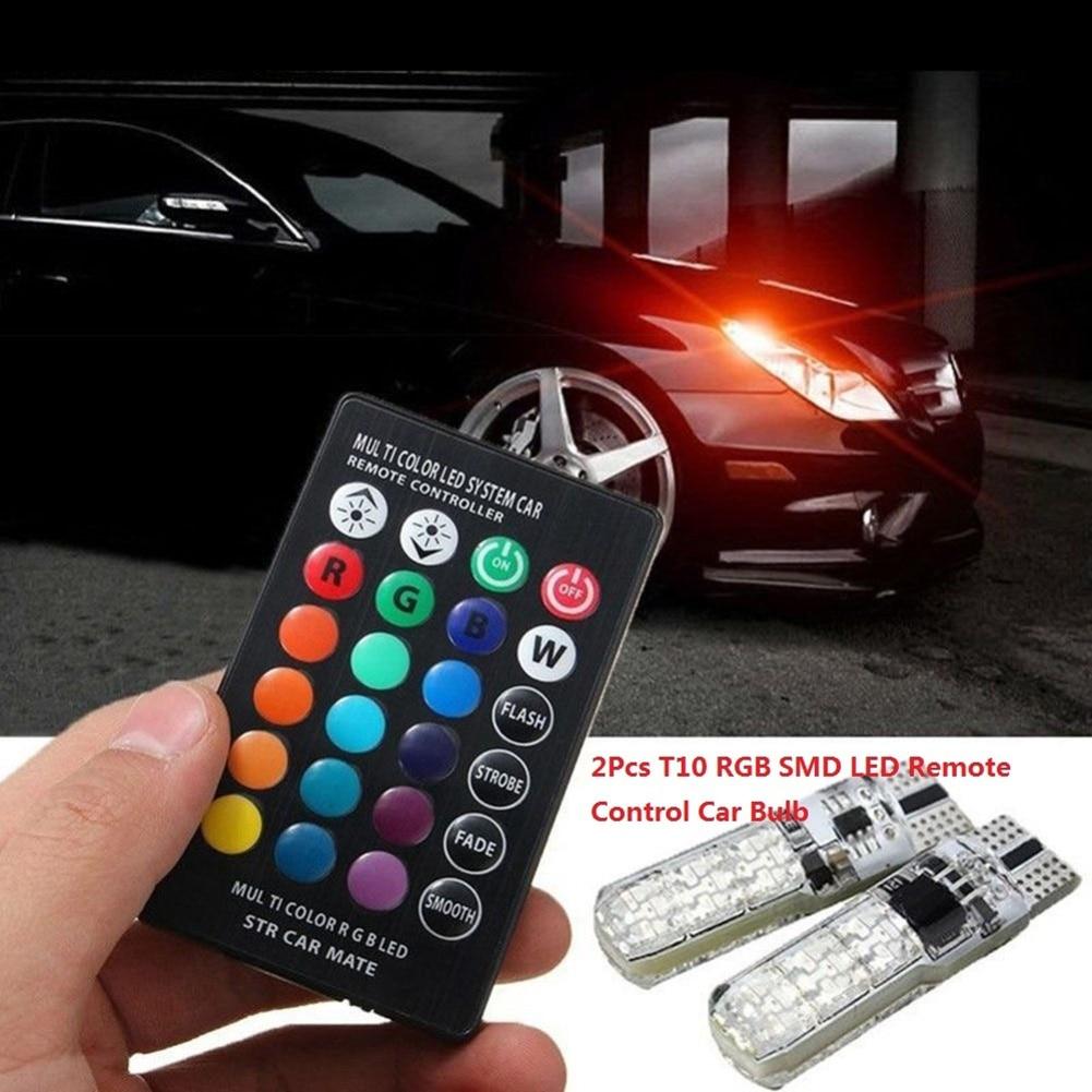 Luz lateral automotiva à prova d água, 6smd 5050 rgb 7 cores, led, luz flash estroboscópica, com controle remoto, acessórios para carro