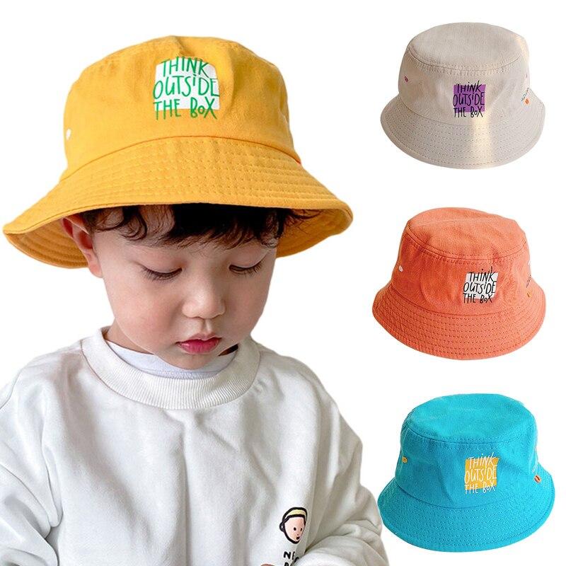 Детское ведро шляпа с новым буквенным принтом с рыбацкой шляпой; Одежда для малышей; Детские летние пляжные хип-хоп для парней и девушек, для...
