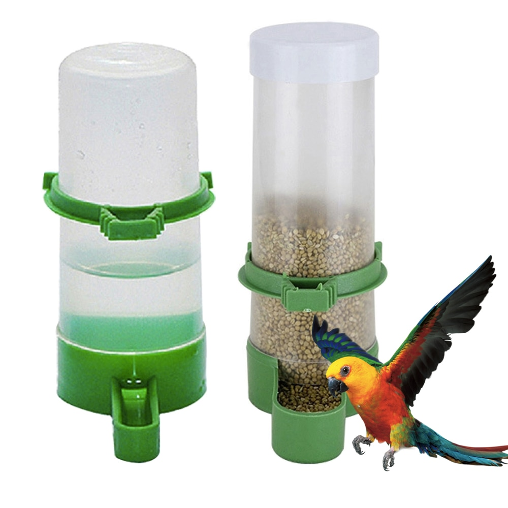 1pcs Bird Water Drinker Feeder Automatic Drinking Fountain Pet Parrot Cage Bottle Drinking Cup Bowls