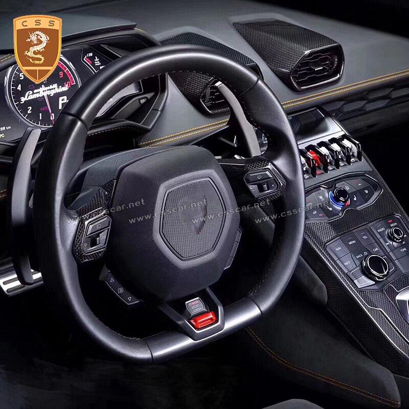 Adornos de fibra de carbono seca de alta calidad para interiores de vehículos Huracan LP610, accesorios de decoración para interiores de automóviles de estilo OEM