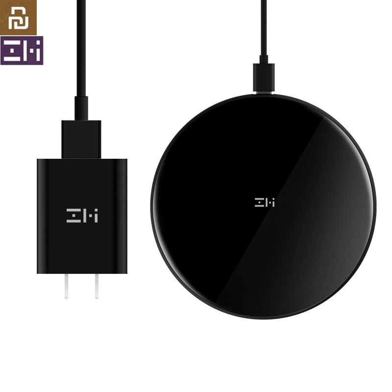 Original Youpin ZMI 10W rápido cargador inalámbrico para iphone X 8 8 Plus cargador rápido Pad para Xiaomi mezclar 2 Samsung Galaxy S S9 Note8