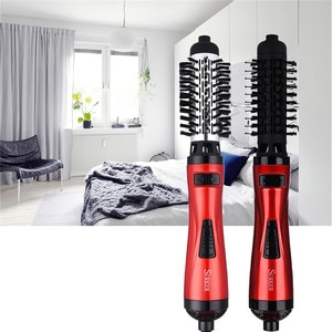 2 in 1 Professional 220V Auto Rotary 1000W Hair Blow Dryer Hair Curler Comb Hot Air Brush Straightener Styling Tools