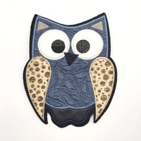 cute animal owl denim patch t shirt press sticker washable sew on transfers patches hoodies coat bag 19x13cm 1 pc