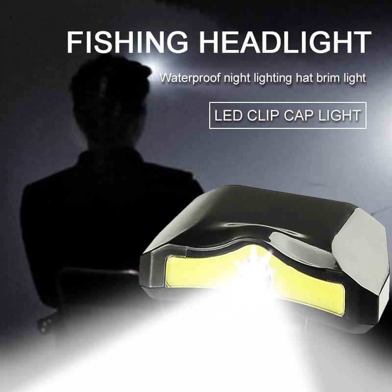 Xpe + cob led clipe de luz farol lanterna mineiros lâmpada para caminhadas acampamento leitura trabalho pesca cabeça ciclismo farol