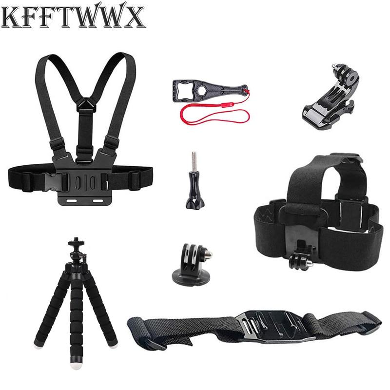 KFFTWWX اكسسوارات عدة ل Gopro Hero10 9 8 7 6 5 ترايبود الأسود رئيس الصدر حزام ل SJCAM ل شاومي ل يي 4K DBPOWER Vantop