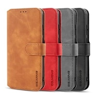 case for huawei honor 20 luxury flip leather phone wallet credit card retro magnetic shockproof protective stand wallet cover