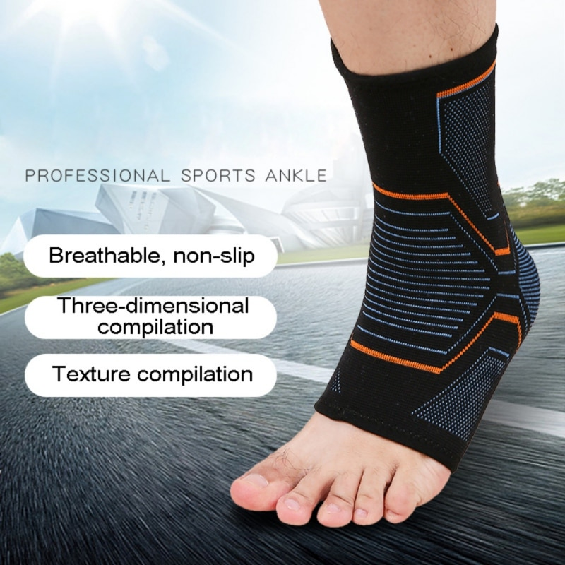 1 PCS Ankle Brace Compression Support Sleeve Elastic Breathable for Injury Recovery Joint Pain baske