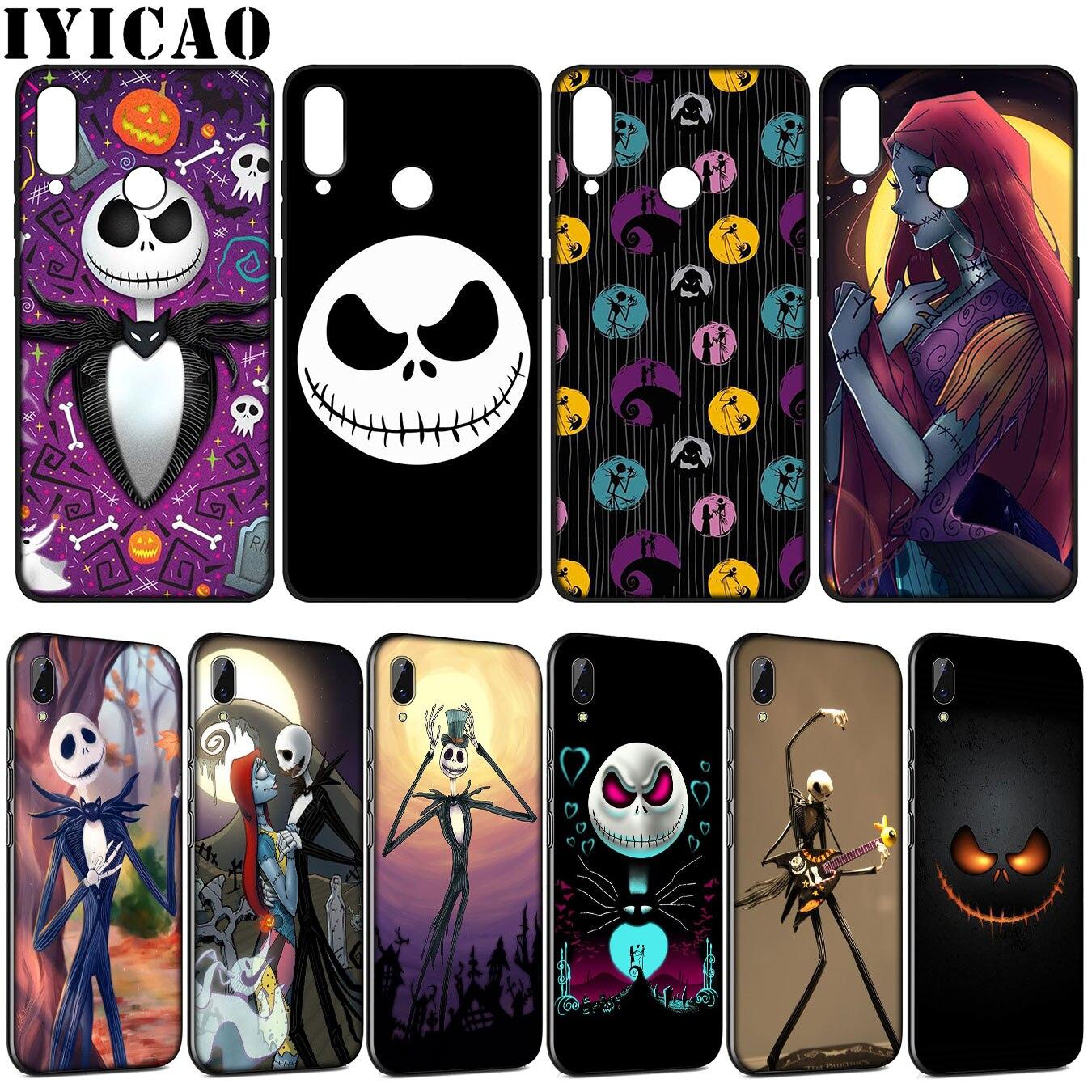 IYICAO Jack Sally Nightmare ソフトシリコンケース Huawei 社 Y9 Y7 Y6 プライム 2019 名誉 20 10 9 9X 8C 8 × 8 Lite 7C 7X 7A プロ