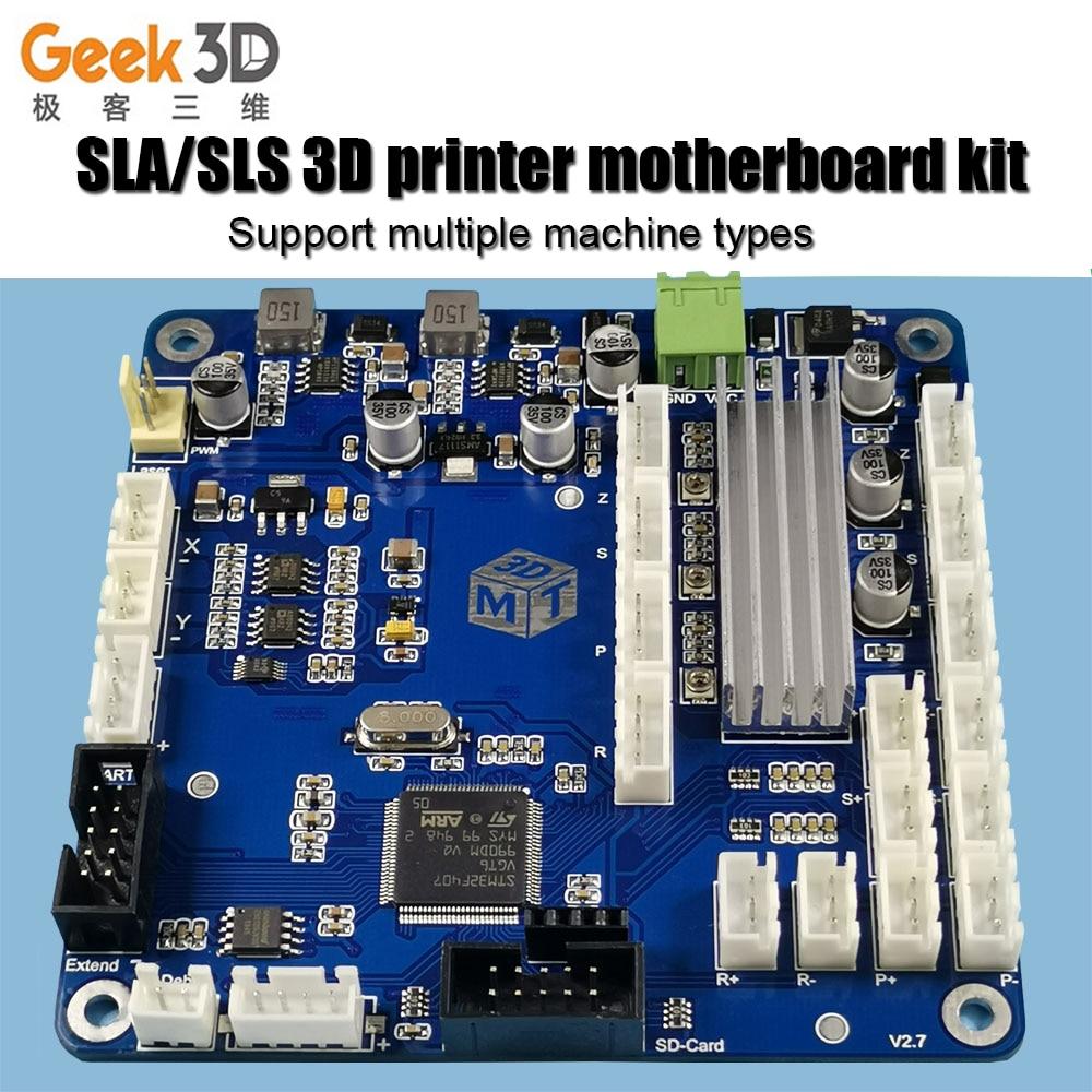SLA 3D drucker motherboard Laser aushärtung galvanometer scannen Touch bildschirm Matt Control board 3d drucker teile bord