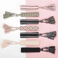 bohemian style luxury fabric vintage handmade simple friendship charm adjustable length bracelet tassel jewelry bridesmaid gift