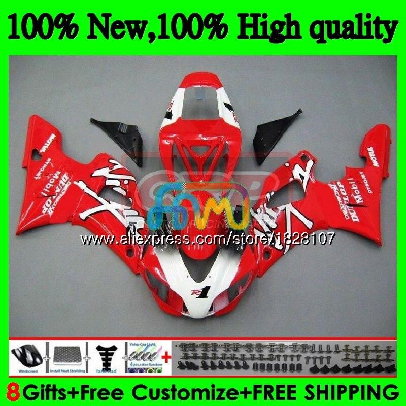 الجسم لياماها YZF R 1 YZF 1000 YZF1000 YZFR1 98 99 إطار 120BS.33 YZF-1000 YZF R1 98 99 YZF-R1 الأحمر الأبيض جديد 1998 1999 هدية