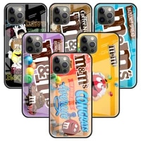 mms chocolate glass case for apple iphone 11 12 pro 7 capas for apple xr x xs max 6 6s 8 plus phone funda cover