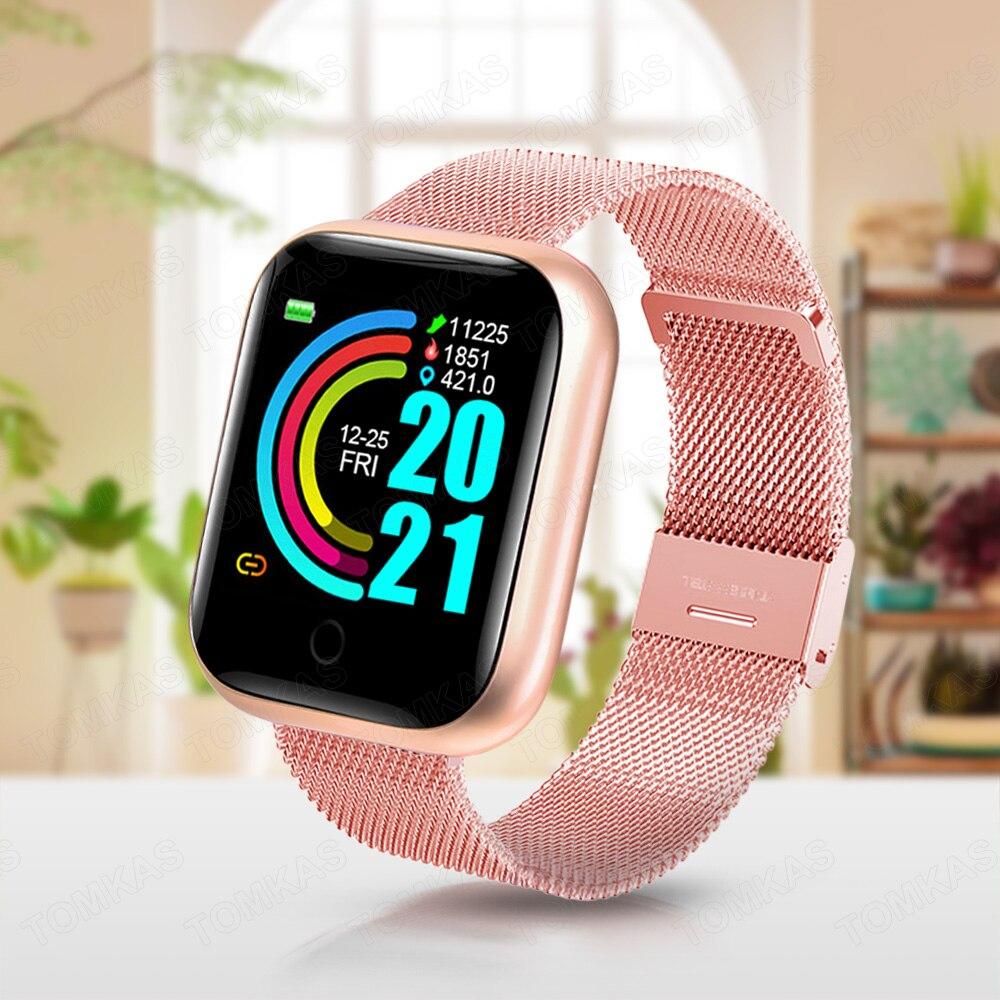 Умные часы с Bluetooth, мужские и Детские умные часы 2020, радужные наручные женские часы, спортивный фитнес-браслет с трекером для Xiaomi Android