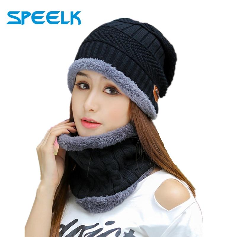 AliExpress - 2020 New Winter Knit Hats Women Thick Warm Beanies Hat Men Riding Outdoor Beanie Skullies Hats Unisex knitted Bonnet winter Cap
