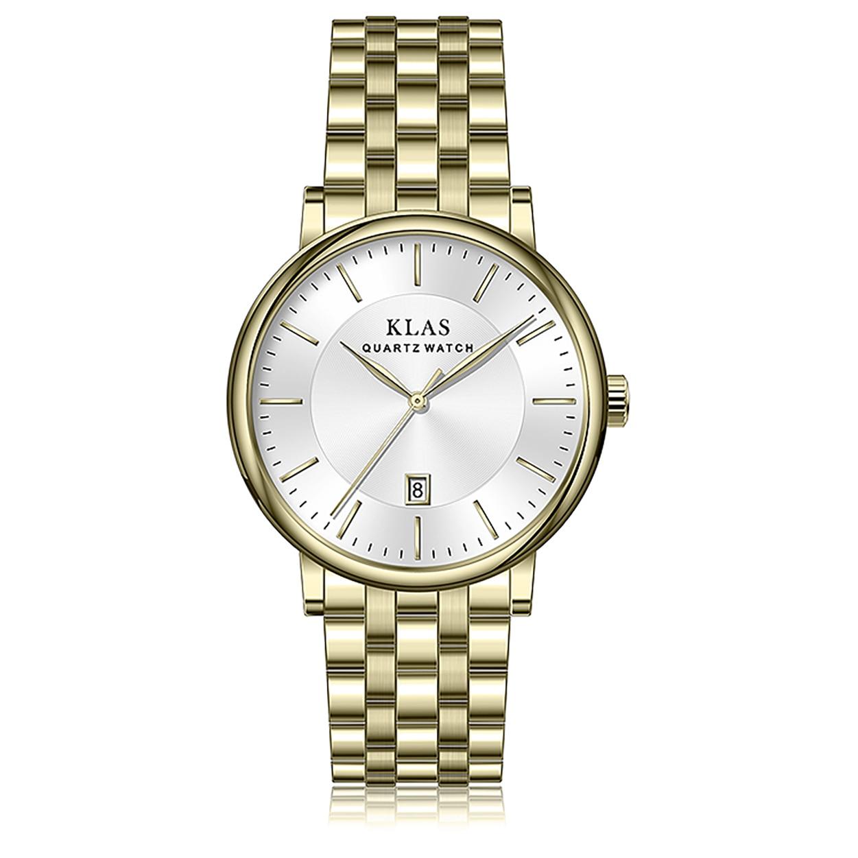 Самая последняя Лидирующий бренд нержавеющая сталь мужские watchesKLAS бренд