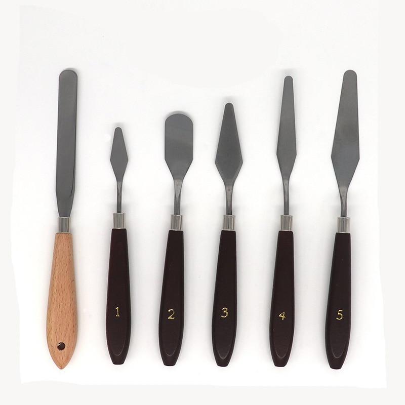 Лучшие инструменты для удаления 3D печати с натуральной прочной деревянной ручкой, набор инструментов для 3D принтера шпатель палитра нож, 6 у...